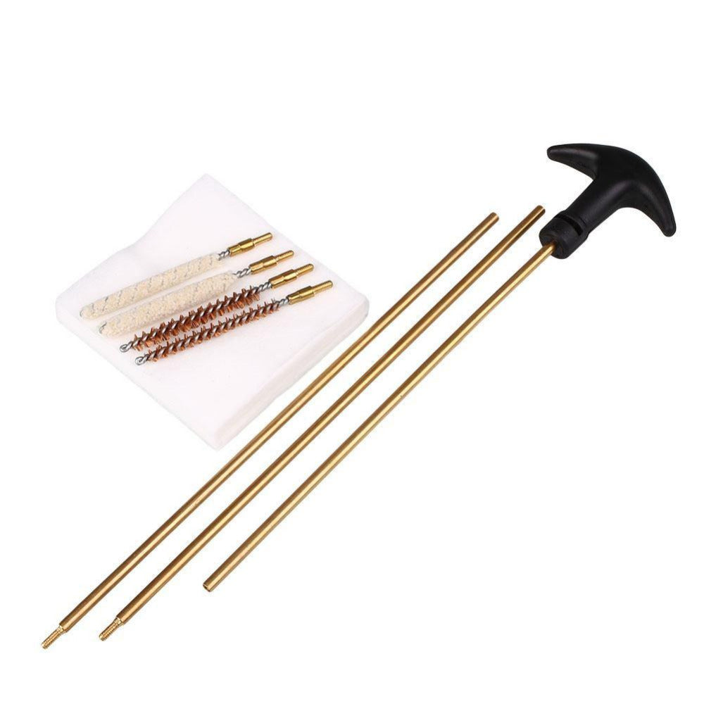 Tactical Hunting Barrel Cleaning Kit 177&.22 Rifles/Pistols Airgun Brush Gun Rod Shortgun Cleaner Airsoft Wire bristle Kit