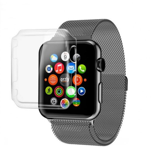 Transparent Watch Screen Protect Case frame PC Case Cover For Apple Watch Seris 2 Series3 iWatch 38 /42mm Watch Accessories