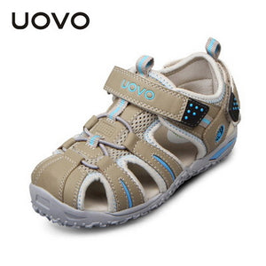 UOVO brand 2017 summer beach kids shoes closed toe sandals for boys and girls designer toddler sandals for 4 - 15 years old kids