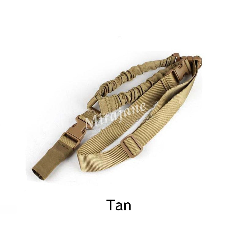 USA Tactical Hunting Gun Sling Adjustable 1 Single Point Bungee Rifle Sling Strap System Free Shipping