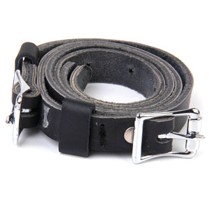 Unisex 1 Pair Black Artificial Leather English Spur Straps Band Belt for Horse Pony Riding Equipment Men Women Sports Accessory