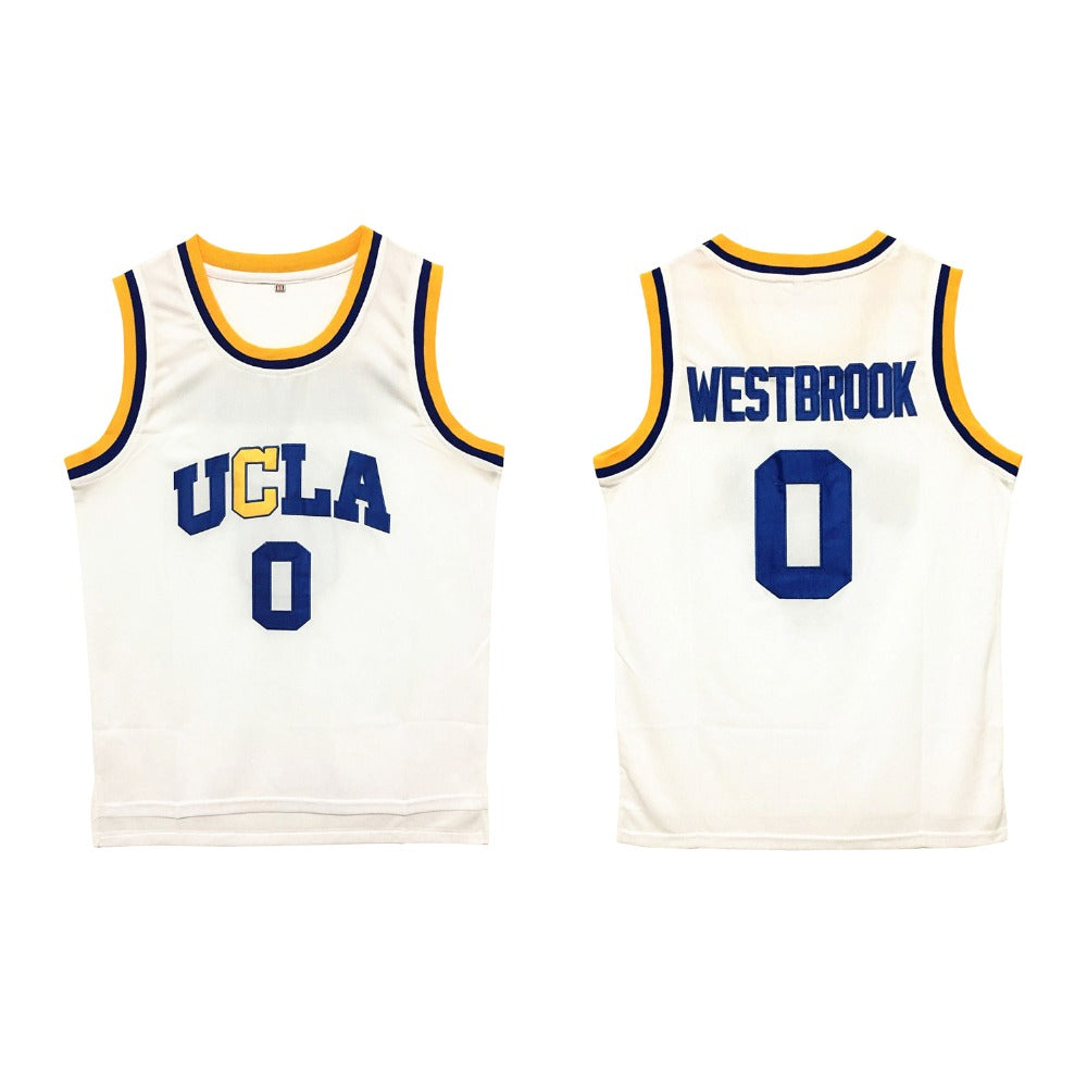 VTURE Mens Russell Westbrook #0 & #2 UCLA Bruins Blue Stitched Basketball Jersey