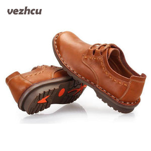 VZEHCU men Casual Shoes 100% Genuine Leather flats driving shoes men's shoes casual 3 colors
