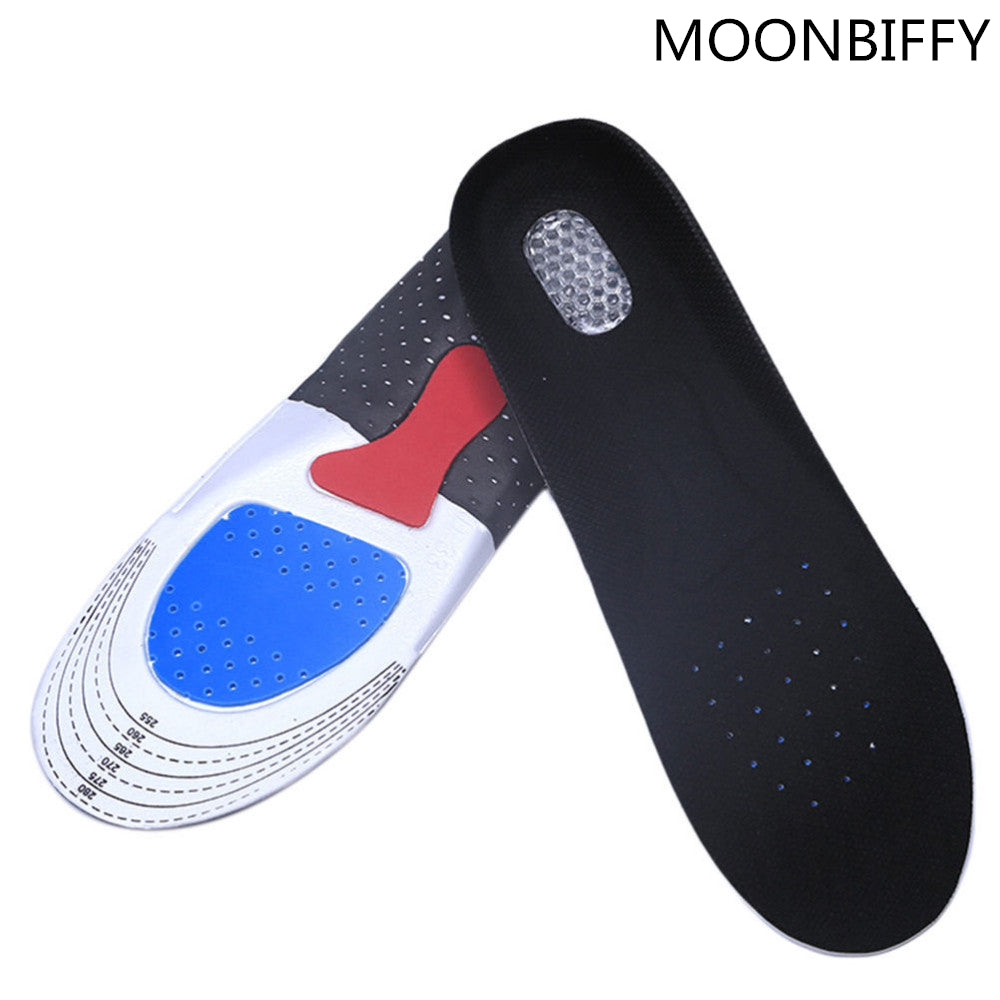 Velishy Unisex Insoles Orthotic Arch Support Shoe Pad 1Pair Free Size Gel Insoles Insert Cushion for Men Women