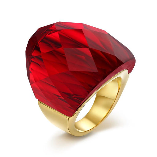 39694d569200b Vnox Large Big Crystal Stone Rings For Women Gold-color Stainless Steel  Clear/blue/green/red Color
