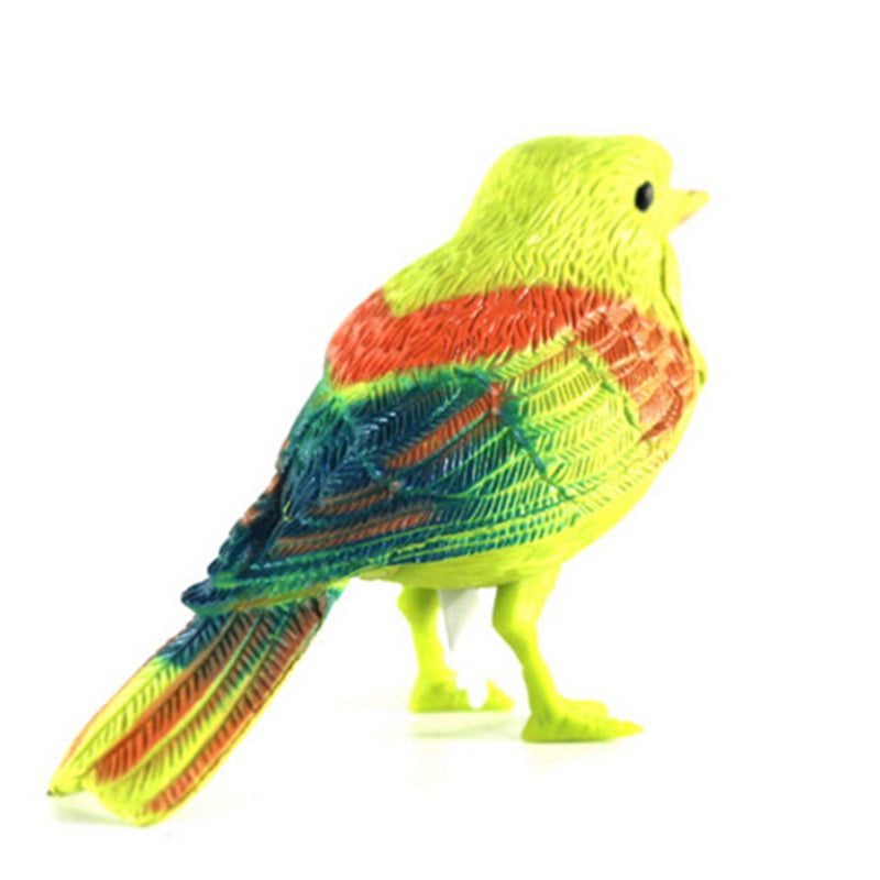 Voice Control Music Bird Toy Simulation Cute Sing Song Bird Toy Doll 2017 Funny Electronic Pet Cage Decoration Toys Morning Bird