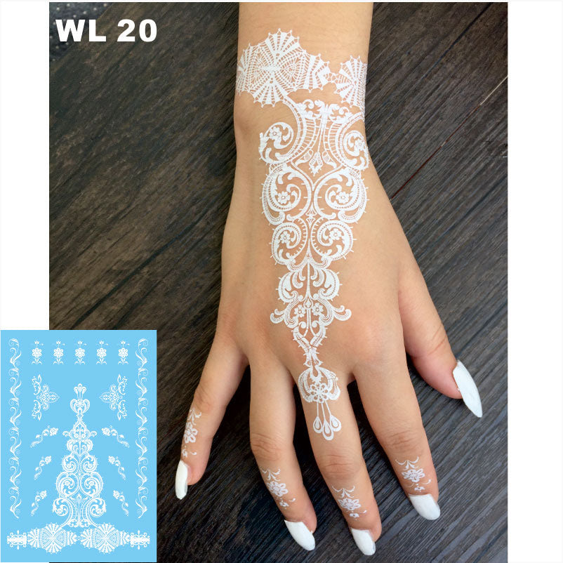 #WL-20 All New Body Lace Tattoo, Hot Sale Waterproof Wedding Tattoo Presented And Produced By Our Store Only!