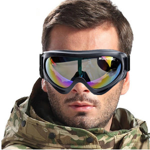 WOSAWE X400 UV Protection Airsolf Sports Ski Snowboard Skate Goggles Motorcycle Off-Road Cycling Goggle Glasses Eyewear Lens
