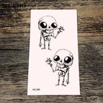 WU&MO NEW Big Eyes Skull Body Art Sexy Harajuku Waterproof Temporary Tattoo For Man Woman Henna Fake Flash Tattoo Stickers