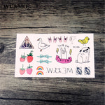 WU&MO New sex products Design Fashion Temporary Tattoo Stickers Temporary Body Art Waterproof Tattoo Pattern Couple Tattoo RC359
