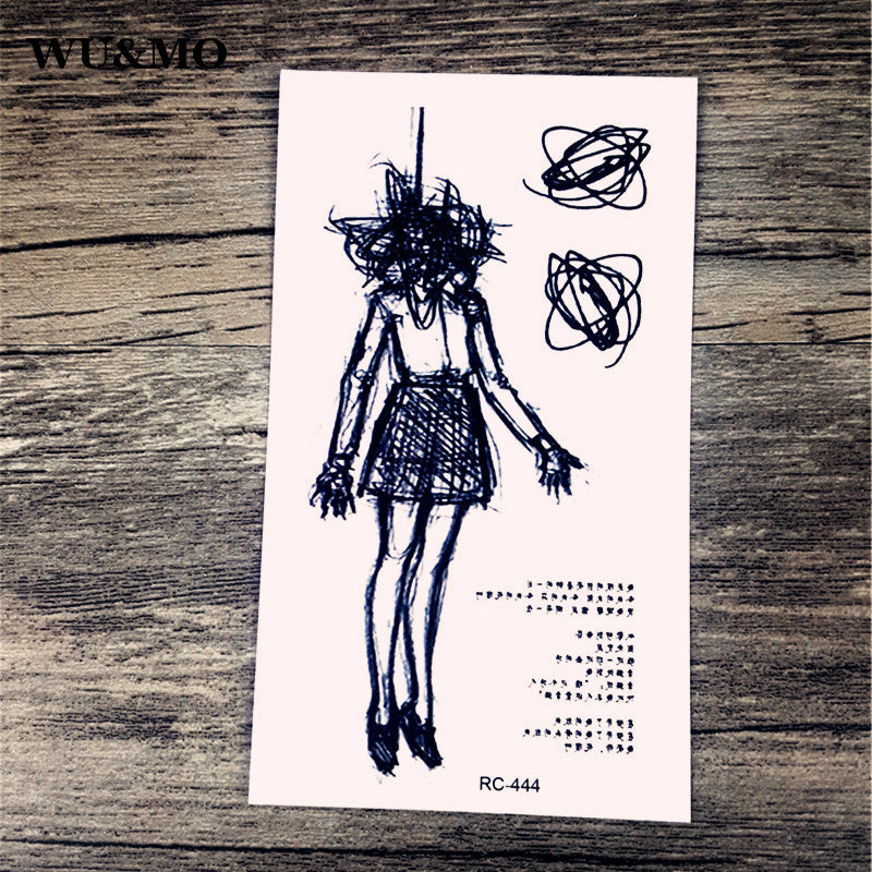 WU&MO New sex products Design Fashion Temporary Tattoo Stickers Temporary Body Art Waterproof Tattoo Pattern Couple Tattoo RC444