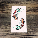 WU&MO RC-466 Goldfish Body Art Sexy Harajuku Waterproof Temporary Tattoo For Man Woman Henna Fake Flash Tattoo Stickers NEW