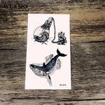WU&MO RC-475 Whale Light Bulb Body Art Sexy Harajuku Waterproof Temporary Tattoo For Man Woman Henna Fake Flash Tattoo Stickers