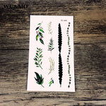 WU&MO RC-489 Grasses Flowers Body Art Sexy Harajuku Waterproof Temporary Tattoo For Man Woman Henna Fake Flash Tattoo Stickers