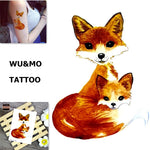 WU&MO SC-891 New Arrival Fox Fake Flash Sexy Body Art Temporary Tattoo Stickers For Man Woman