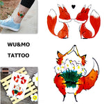 WU&MO SC-893 New Arrival Cute Lovely Fox Fake Flash Sexy Body Art Temporary Tattoo Stickers For Man Woman