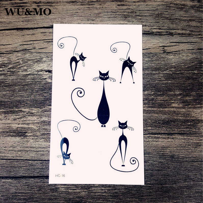 WU&MO Sex Products Kitty Tattoo New Design Fashion Temporary Tattoo Stickers Temporary Body Art Waterproof Tattoo Pattern hc-16
