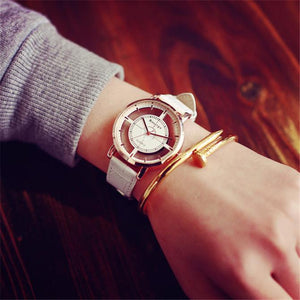 Watch Neutral Fashion Personality Simple Fashion Unique Hollow Watch Luxury Unique Stylish Double Hollow Elegant Casual Wristw