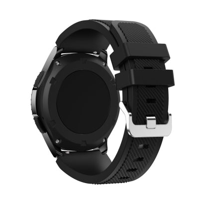 Watchbands Black 22mm luxury brand New Fashion Sports Silicone Bracelet Strap Band For Samsung Gear S3 Frontier 2017 Hot Sale