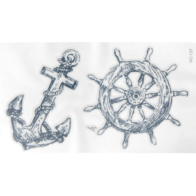 Waterproof Tattoo Stickers 1Pcs Marine Pirate Anchor Temporary Tattoo Body Art Arm Flash Tatto