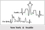 Waterproof Temporary Tattoo Sticker Seattle New york Chicago San Francisco city skyline letters tatto flash tatoo fake tattoos