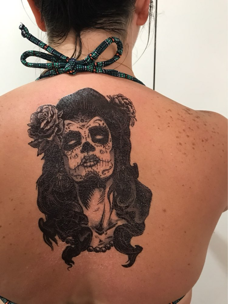 1f763bf147b34 Waterproof Temporary Tattoo Sticker large size witch Mexico mexican skull  tatto stickers flash tatoo fake tattoos