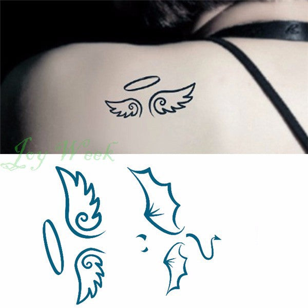 Waterproof Temporary Tattoo Sticker on body 10.5*6cm angel wings tatto stickers flash tatoo fake tattoos for girl women