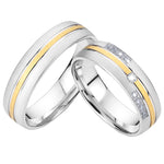 Wedding Band Couples Rings Classic Western Style High Quality Titanium Jewelry Engagement Rings for Men and Women