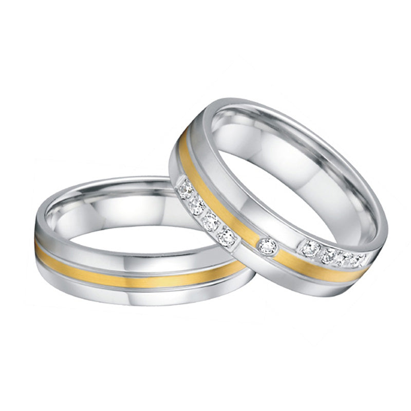 Wedding Band Couples Rings Classic Western Style High Quality Titanium  Jewelry Engagement Rings For Men And