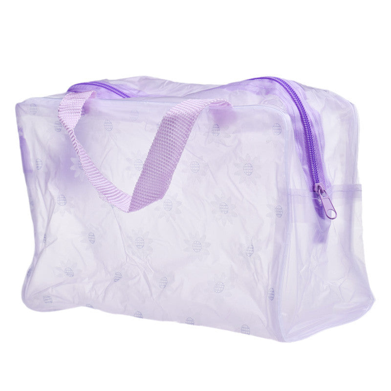 Wholesale New Fashion Women Cosmetic Bag Environmental Protection PVC Transparent Organizer CaseMakeup Bag Portable Make up