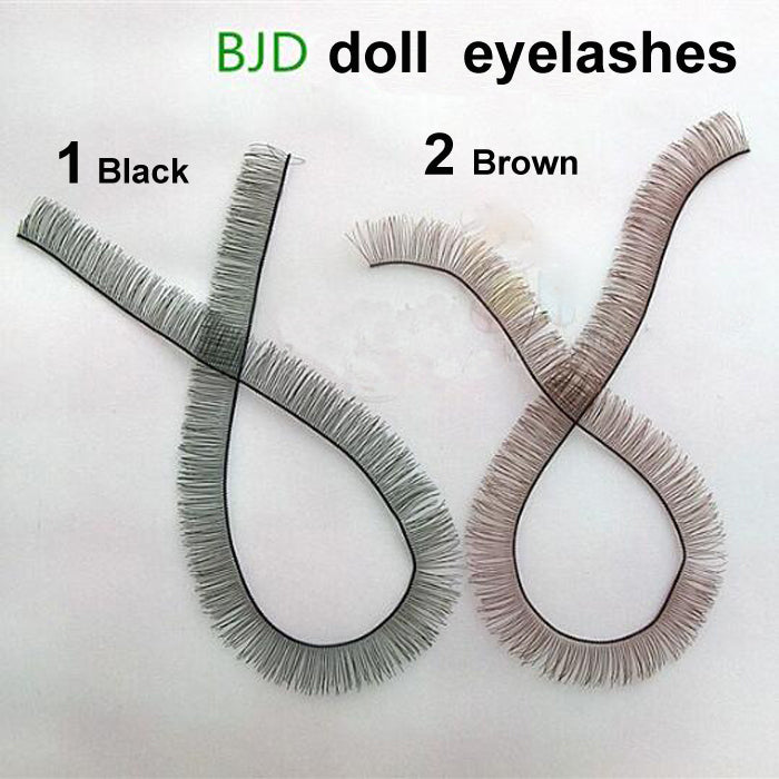 Wholesales 5pcs/lot 8mm width *20cm length eyelashes for 1/3 1/4 BJD doll or reborn doll accessory