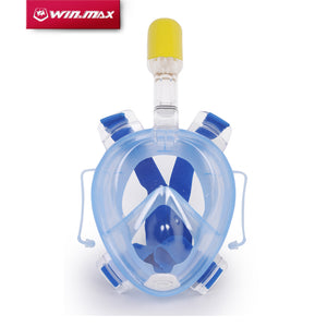 Winmax New Arrival Underwater Scuba mergulho Anti Fog Full Face Diving Mask Snorkeling Set with Earplug and Snorkel