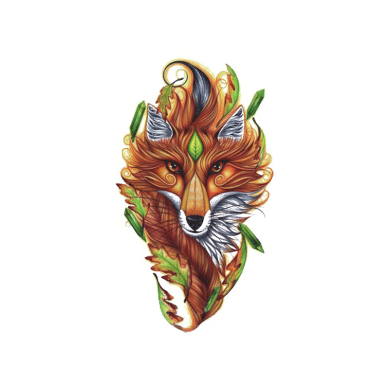 Wyuen 2017 NEW Hot Design Temporary Tattoo for Adult Waterproof Tatoo Sticker Body Art Fox A-090 Animal Fake Tattoo Woman