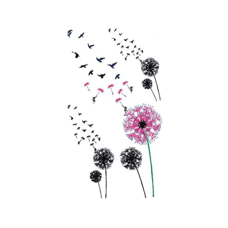 Wyuen 2017 New Hot Waterproof Temporary Tattoo Stickers for Adults Kids Body Art Dandelion P-011 Fake Tatoo for Woman Body