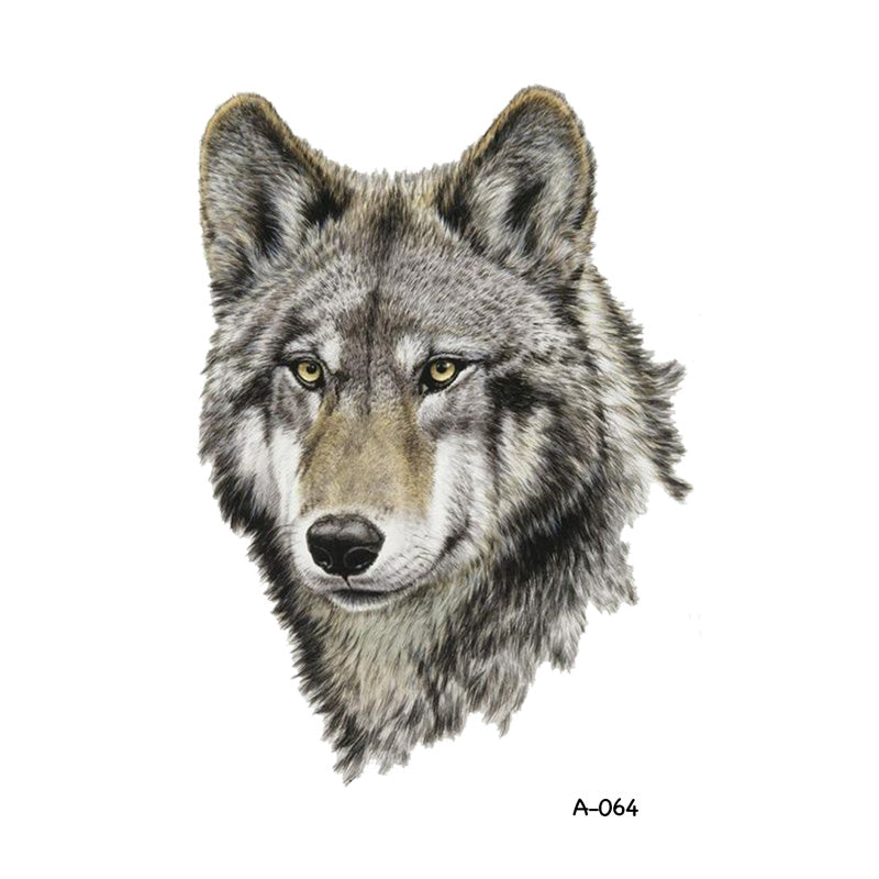 Wyuen Design Wolf Temporary Tattoo for Adult Women Tatoo Sticker Men Body Art Fake Tattoo A-064