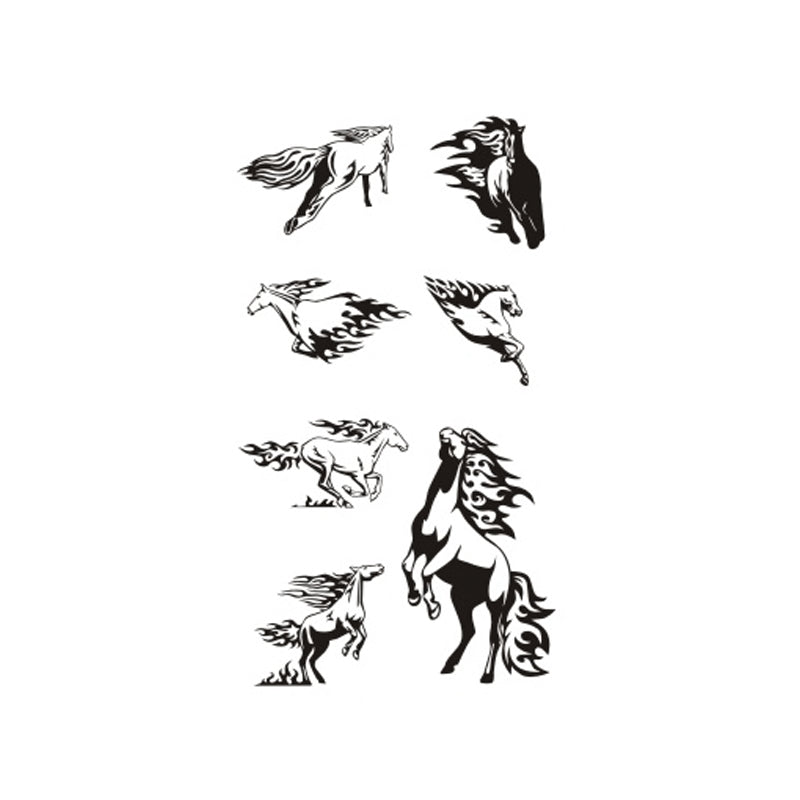 Wyuen Hot Design Temporary Tattoo For Adult Waterproof Tatoo Sticker Body Art Running Horses A-079 Fake Tattoo Man Woman
