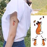 Wyuen Hot Design Temporary Tattoo for Adult Waterproof Tatoo Sticker Body Art Hand Painted Little Fox Fake Woman Tattoo A-093