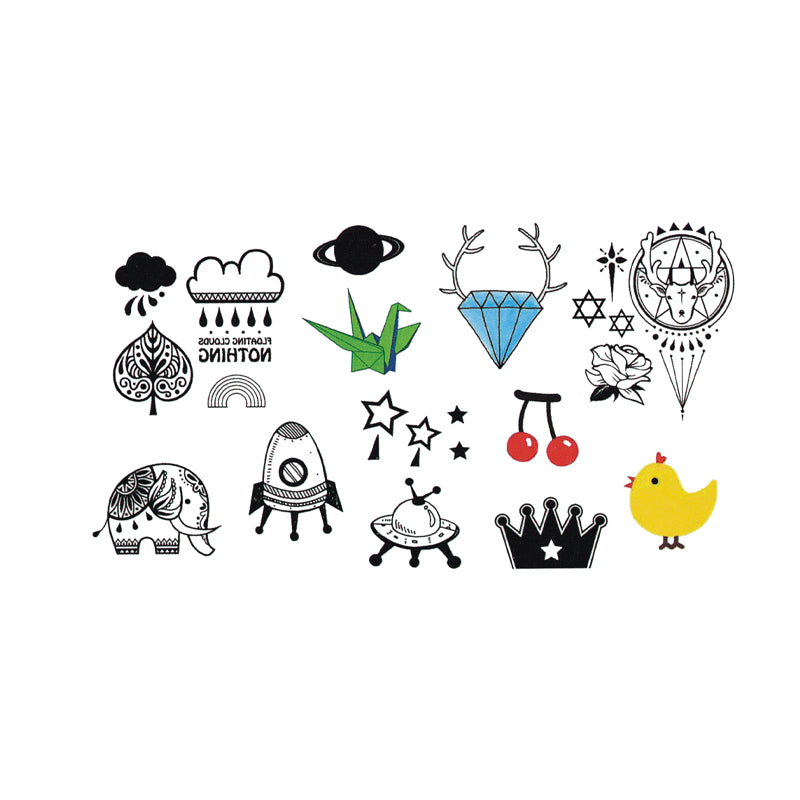 Wyuen Hot Waterproof Temporary Tattoo Stickers for Adults Kids Body Art Funny Items Collection MX-047 Fake Tatoo for Man Woman