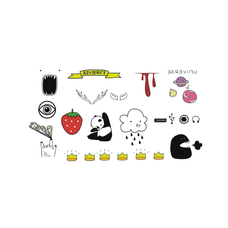 Wyuen Hot Waterproof Temporary Tattoo Stickers for Adults Kids Body Art Funny Items Collection MX-054 Fake Tatoo for Man Woman