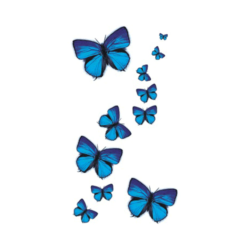 Wyuen NEW Hot Design Temporary Tattoo for Adult Waterproof Tatoo Sticker Body Art Blue Butterfly A-049 Fake Tattoo Man Woman