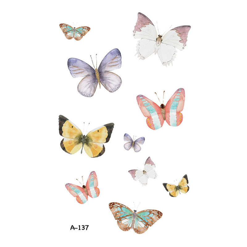 Wyuen New Design Butterfly Fake Tattoo Waterproof Temporary Arm Tatoo Stickers For Women Men Body Art Tattoos A-137
