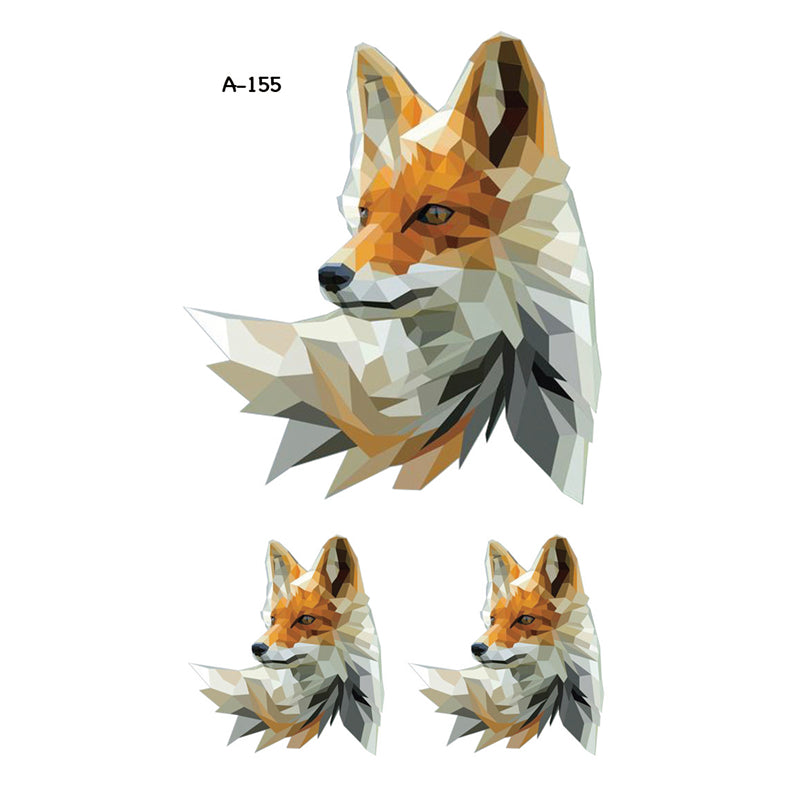 Wyuen New Design Red White Fox Fake Tattoo Waterproof Temporary Arm Tatoo Stickers for Women Men Body Art Tattoos A-155