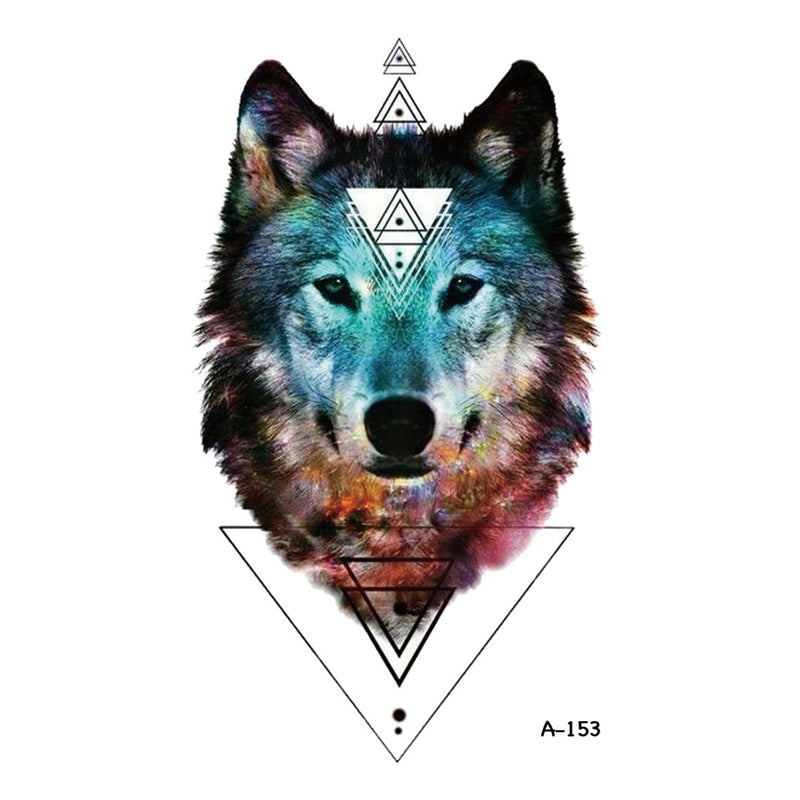 Wyuen New Design Wolf Fake Tattoo Waterproof Temporary Arm Tatoo Stickers for Women Men Body Art Tattoos A-153