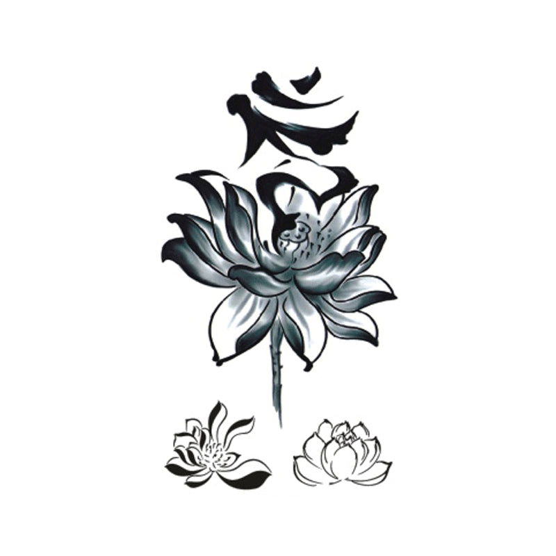 Wyuen New Hot Waterproof Temporary Tattoo Stickers for Adults Kids Body Art Flower P-027 Fake Tatoo for Man Woman Tattoos