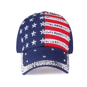 [YARBUU] Baseball caps 2017 fashion high quality hat For men women The adjustable cotton cap rhinestone star Denim cap hat