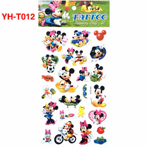 YH-T012 Little Mouse Cartoon Hot Flashes Temporary Tattoo Color Waterproof Body Art Tattoo Stickers Non-toxic Arm Tattoo