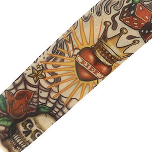 YOST Skull Crown Stretchy Temporary Tattoo Arm Sleeve Stocking for Child