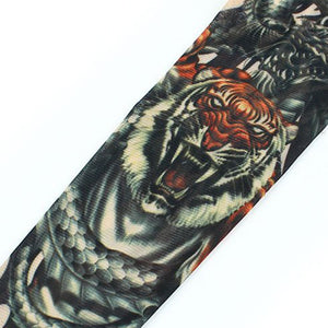 YOST Tiger Printed Stretchy Temporary Tattoo Arm Sleeve Stocking for Child