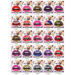 YOUE SHONE 3D Art lips sticker Glitter Pink sexy pattern makeup tattoo lip stickers Makeup Tools