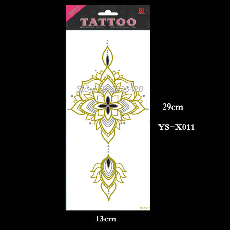 YS-X011 New Waterproof Under Breast Tattoo, Ornamental style Temporary Metal Tattoo, Sexy Women Tattoo!